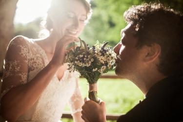 luční svatební kytice