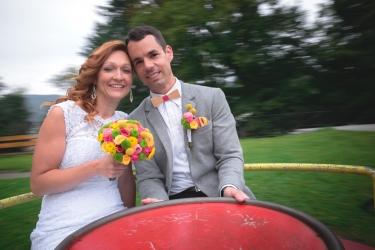 veselá svatební kytice
