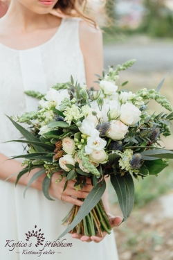 svatební kytice eukalyptus