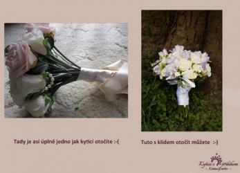 svatební kytice rozdíl