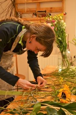 Terezie, individuální kurzy květinové vazby a aranžování květin