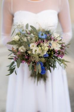 svatební kytice boho