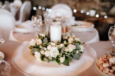 svatební tabule svícen