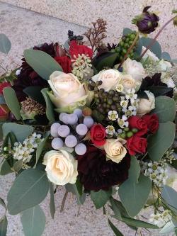boho svatební kytice podzimní