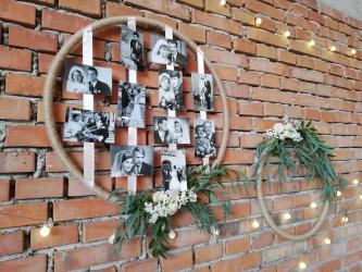 svatební fotky dekorace