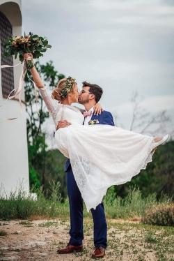 boho svatební kytice
